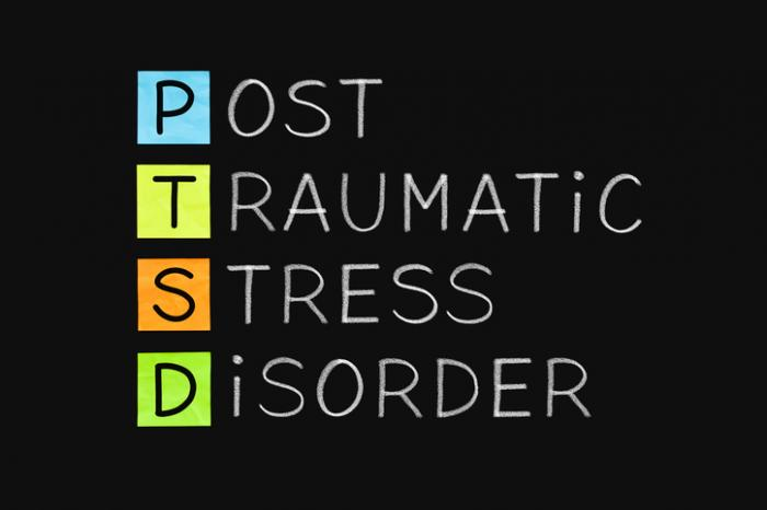 person with ptsd