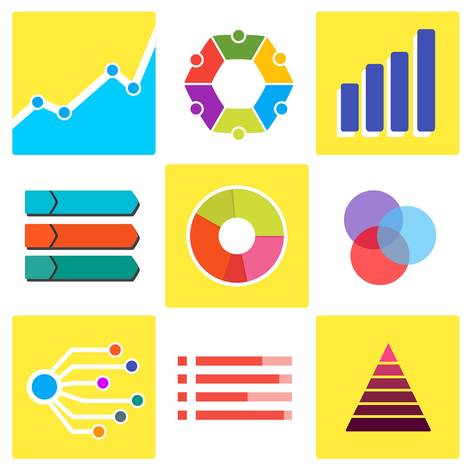 graphs and charts to depict analytics used by defi marketers
