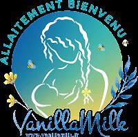 """Logo du réseau national des lieux ou commerces """"Allaitement bienvenu"""" de VanillaMilk"""