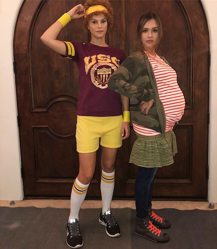 Jessica Alba Uses Her Pregnancy For Her Juno Costume