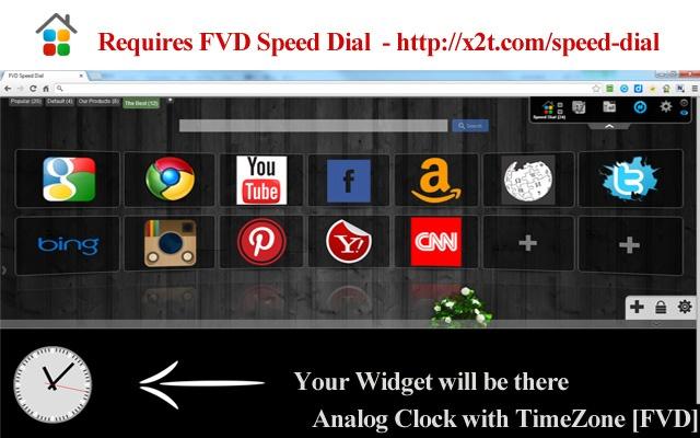 Analog Clock with TimeZone [FVD] chrome extension