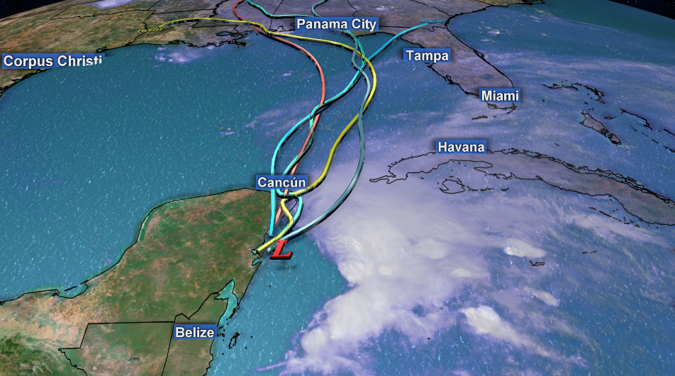 Max Scene Presentation - Heavy rainfall headed towards Florida