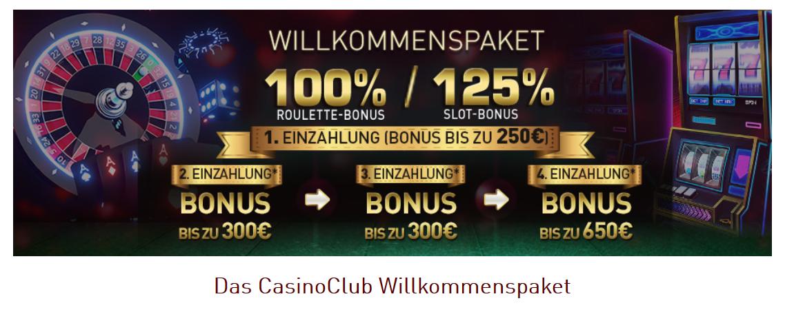 Casino Club: Bonus für neue Spieler.