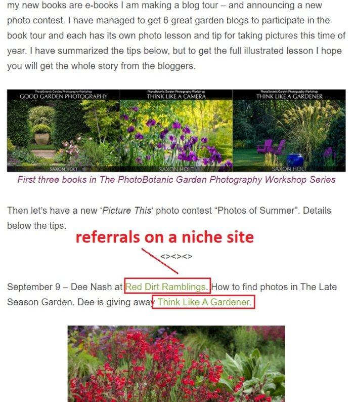nhận được các liên kết ngược trên các trang web thích hợp