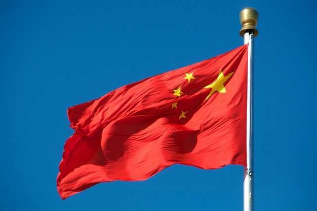 The flag of China.