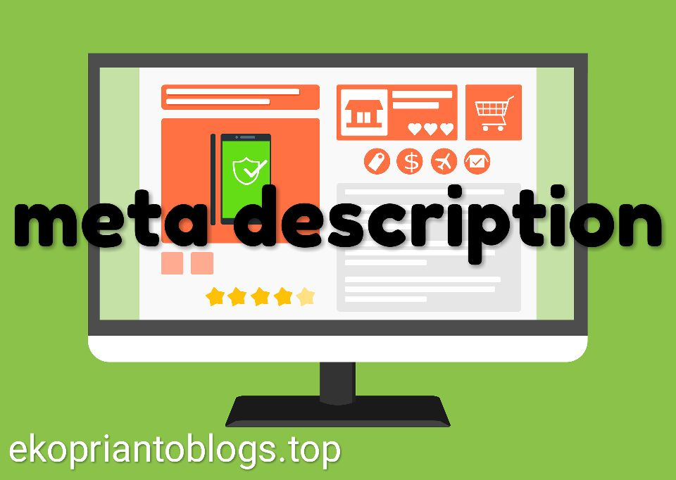 Cara setting meta description pada blogger