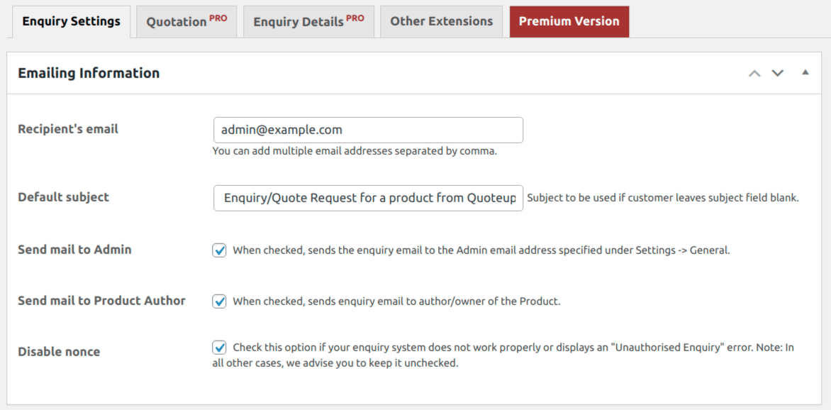 Best WordPress Plugins: Product Enquiry for WooCommerce