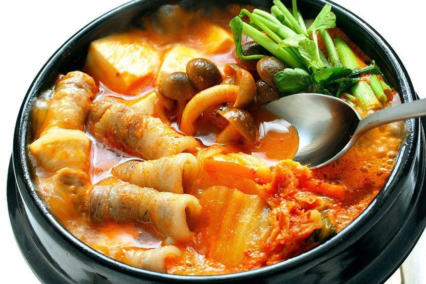 Kimchi Jjigae (Kimchi-based stew)