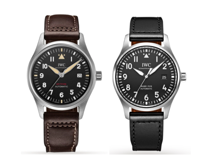IWC Spitfire and Mark XVII side by side
