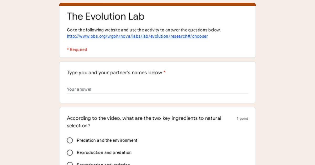 The Evolution Lab