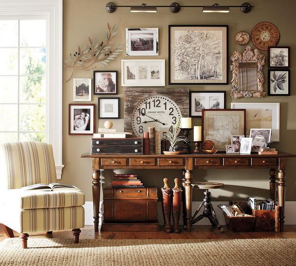 Ornamen dekorasi bertema vintage dengan 'photo wall' - source: aicjsc.com