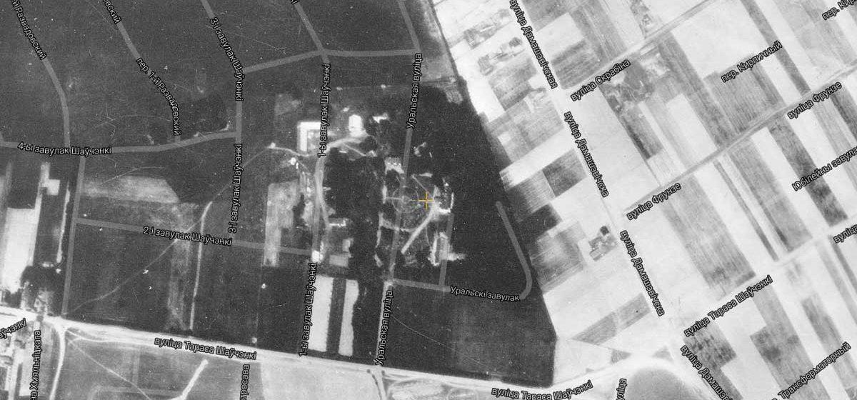 Имение «Барановичи» на аэрофотосъемке 1942 года.
