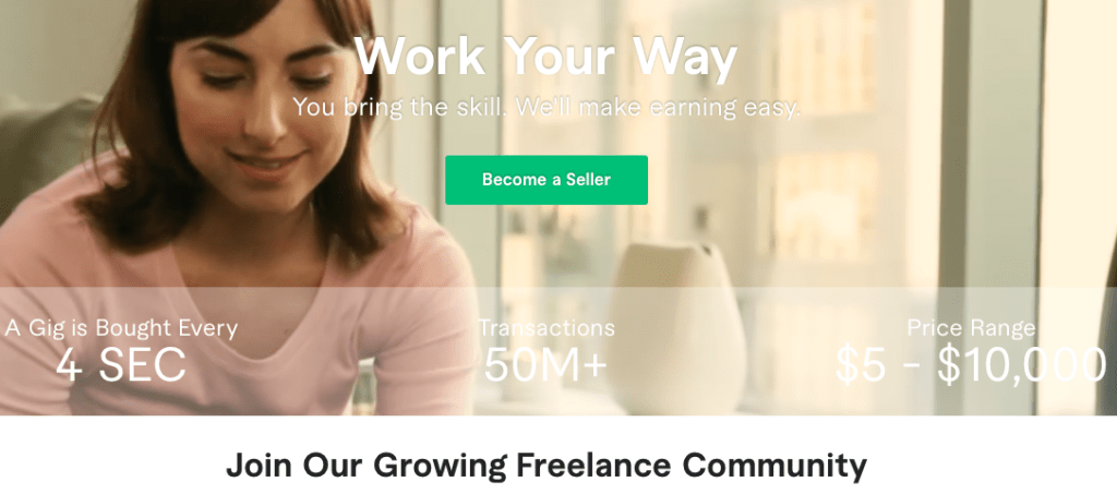 Fiverr - become a seller