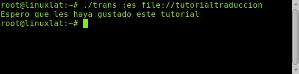 Traducir archivo desde terminal