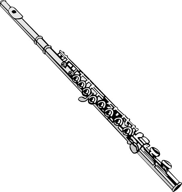 Vector Gratis: Flauta, Música,