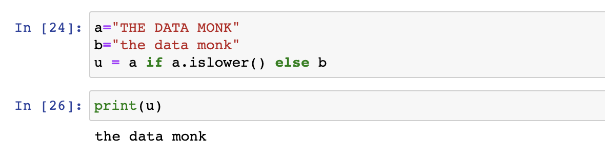 Conditional Operator in Python