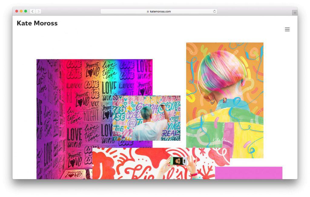 kate moross portfólio de design é uma opção de idéias de negócios online
