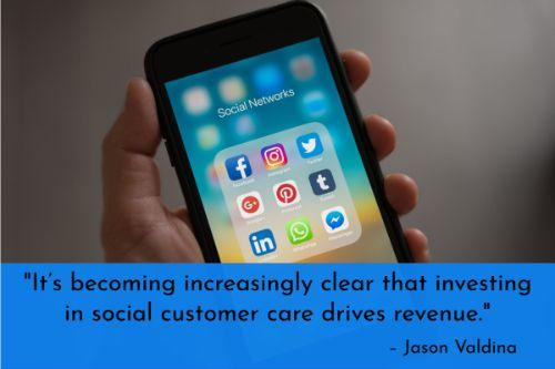"""""""It's becoming increasingly clear that investing in social customer care drives revenue. According to a previously conducted Twitter poll, airline customers would be willing to pay $2.33 more for the same or enhanced service if a social response is provided in 67 minutes or more. Even more incredible, customers would be willing to pay an astounding $19.83 more if a response is provided within just six minutes. Time is money, so start saving both by providing value quickly on social."""" – Jason Valdina"""