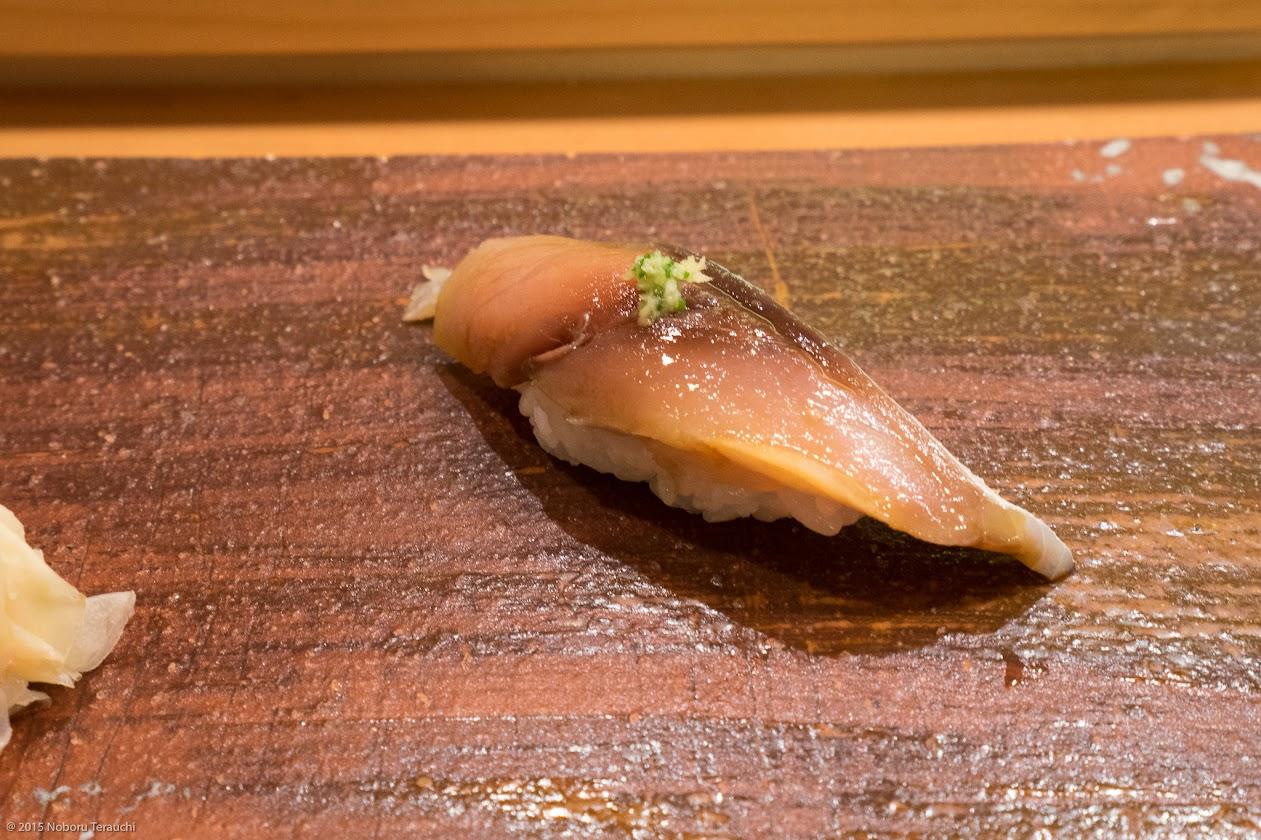 〆鯖 生姜とネギのせ