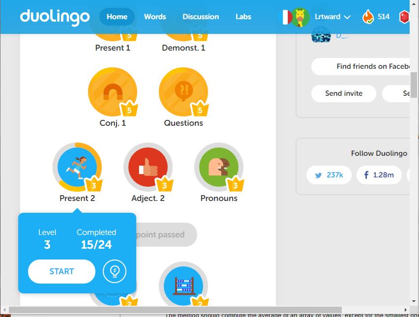 how to change level in duolingo
