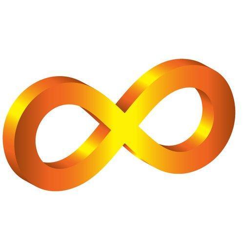 Símbolo do amarelo da infinidade