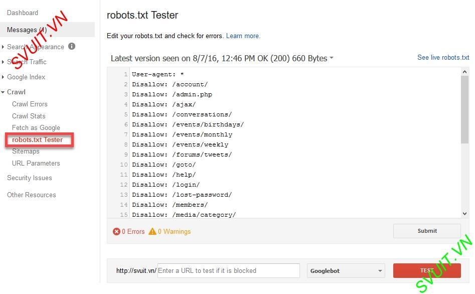 Robots.txt Tester(1)