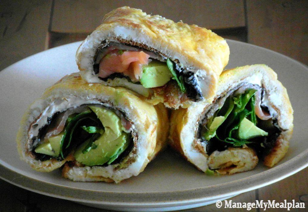 Sashimi Omelet Wrap