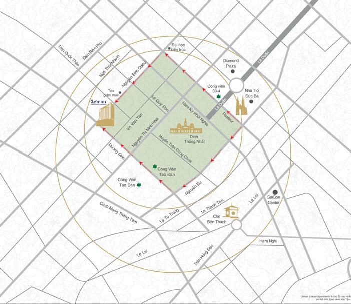 Map of area around Leman Luxury