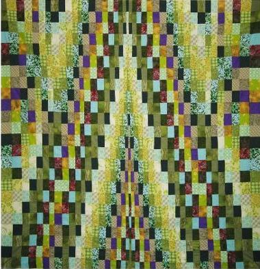 Vibrant Bargello Tree Quilt