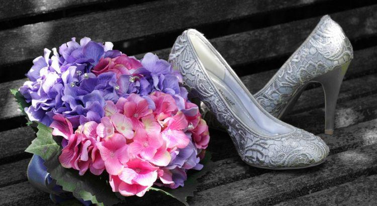 Свадебный букет гортензий