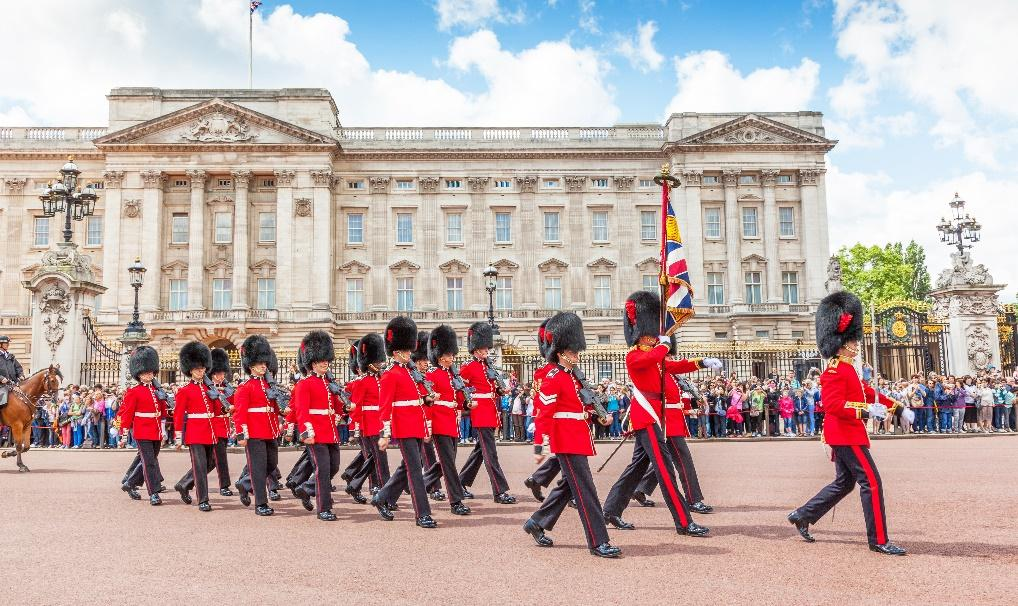 The Changing of the Guard at Buckingham Palace, London
