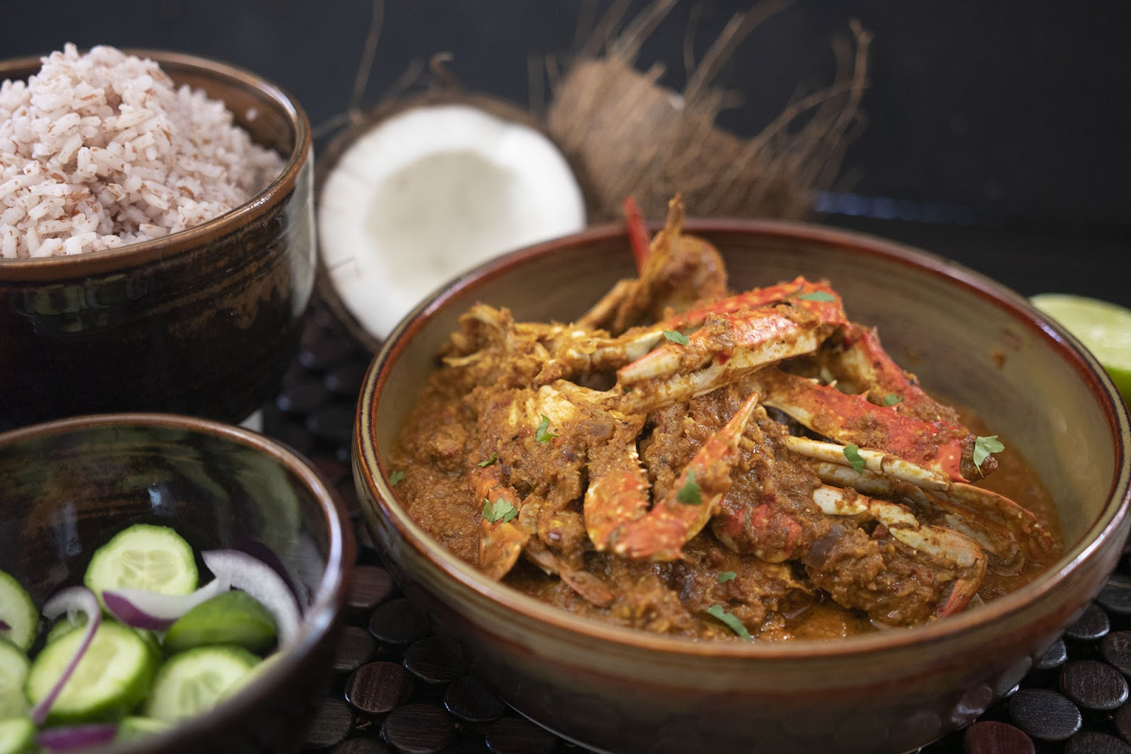 Crab Xacuti is ideal for seafood lovers