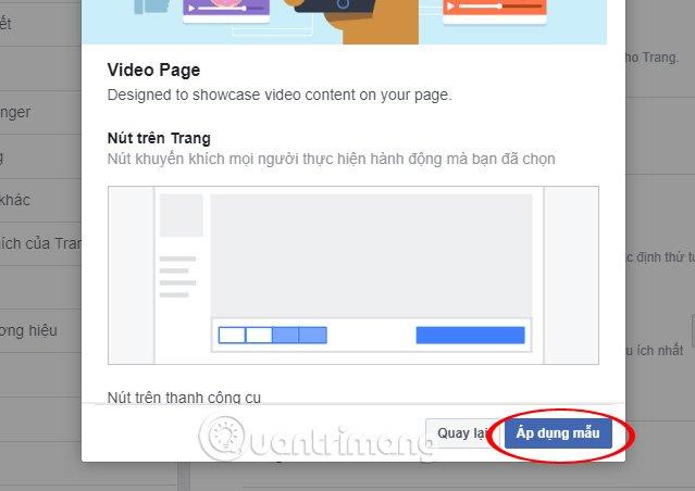 Hoàn thành thiết lập trong phần Video Page