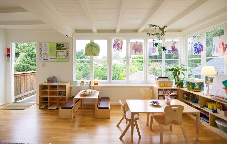 Trường mầm non có không gian đáng yêu phù hợp với trẻ nhỏ.
