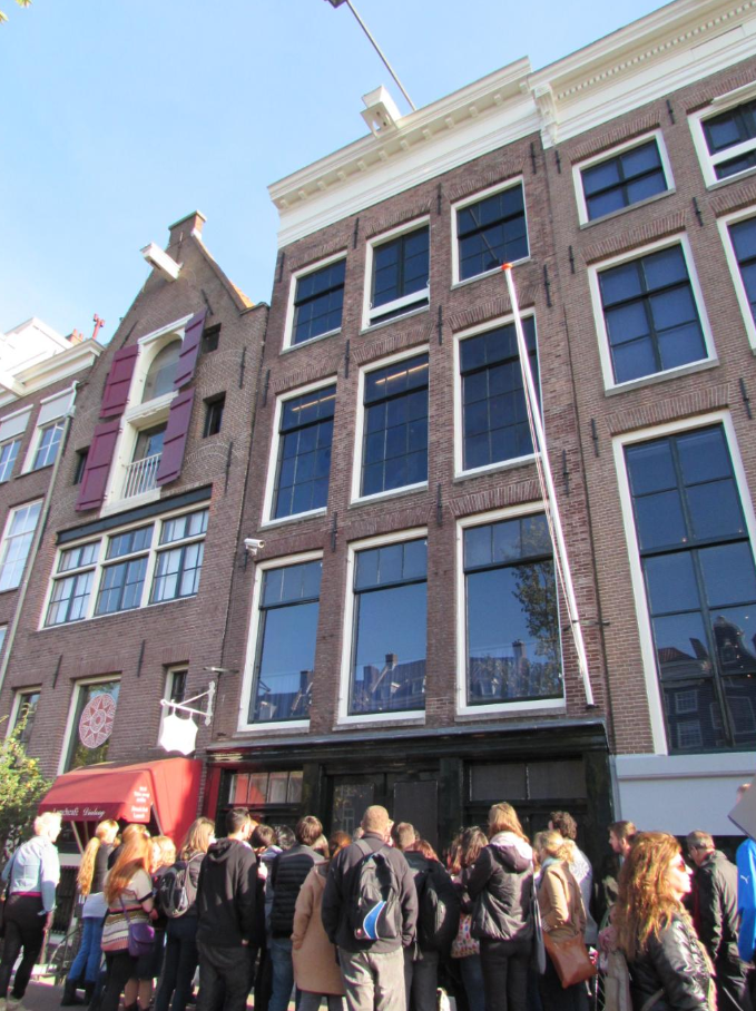 Outside of The Anne Frank House