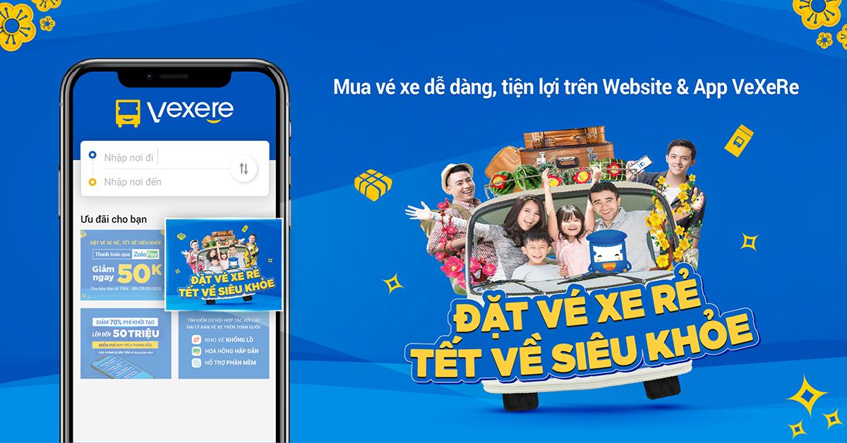Trang web VeXeRe.com là nền tảng đặt vé xe khách trực tuyến lớn nhất Việt Nam