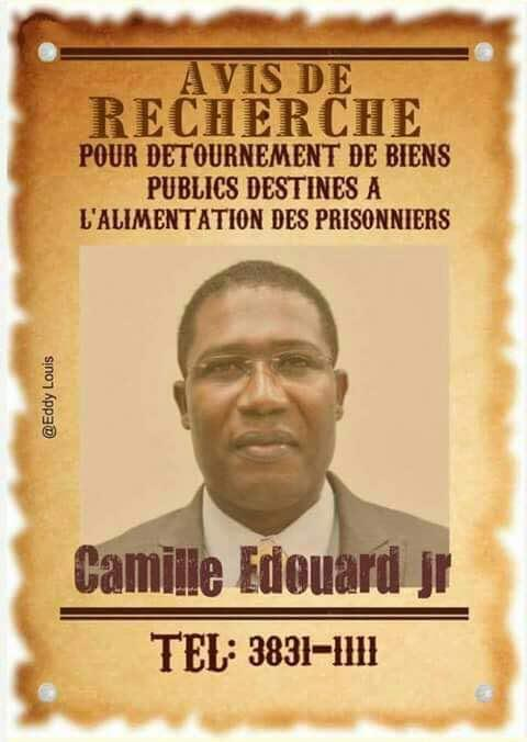 PRIVERT MINISTER CAMILLE EDOUARD JR STOLE THE FOOD MONEY AND STARVED PRISONERS TO DEATH – CREATED EPIDEMIC CONDITIONS – UTTER FILTH- EVEN AS WE ASKED HIM TO REVIEW PREVENTATIVE DETENTION