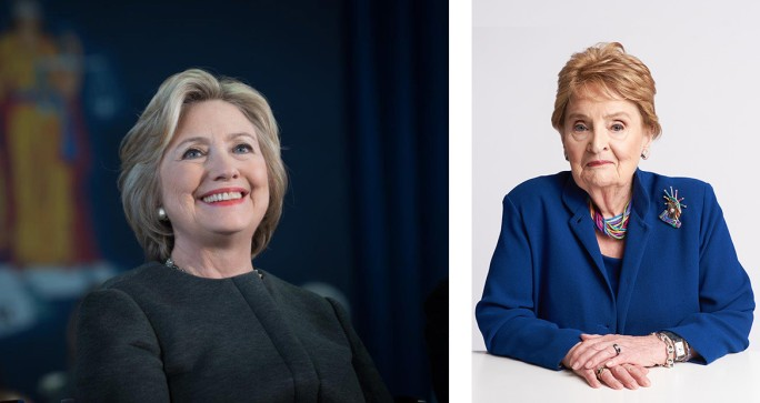 Hillary Rodham Clinton (left) and Madeleine Albright (right). Image from Sotheby's.
