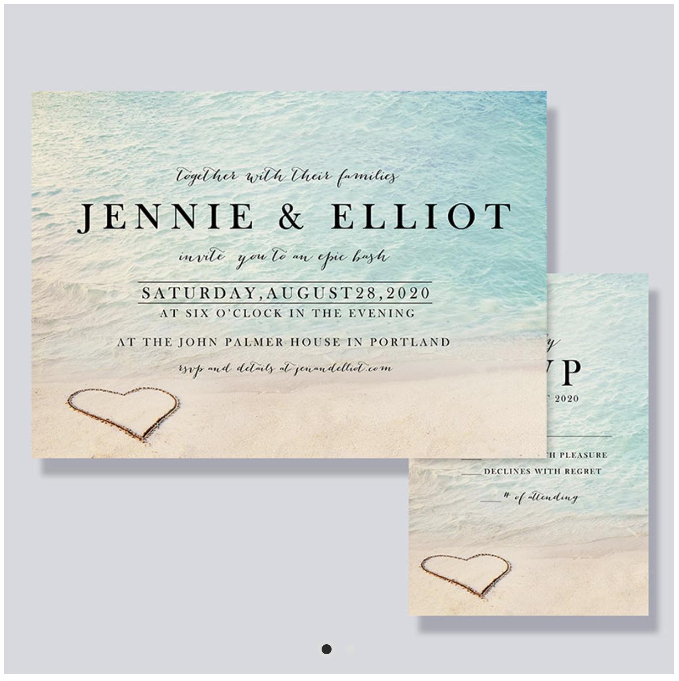beachy invitation