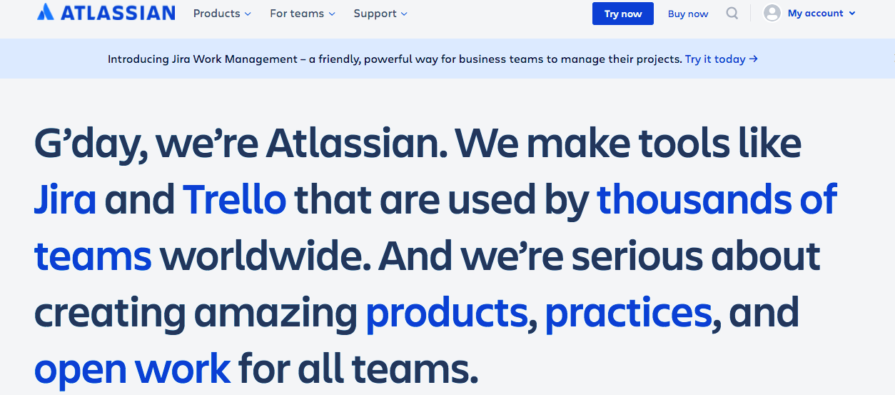 B2B Demand Generation Strategy: Clear Messaging - Atlassian Example