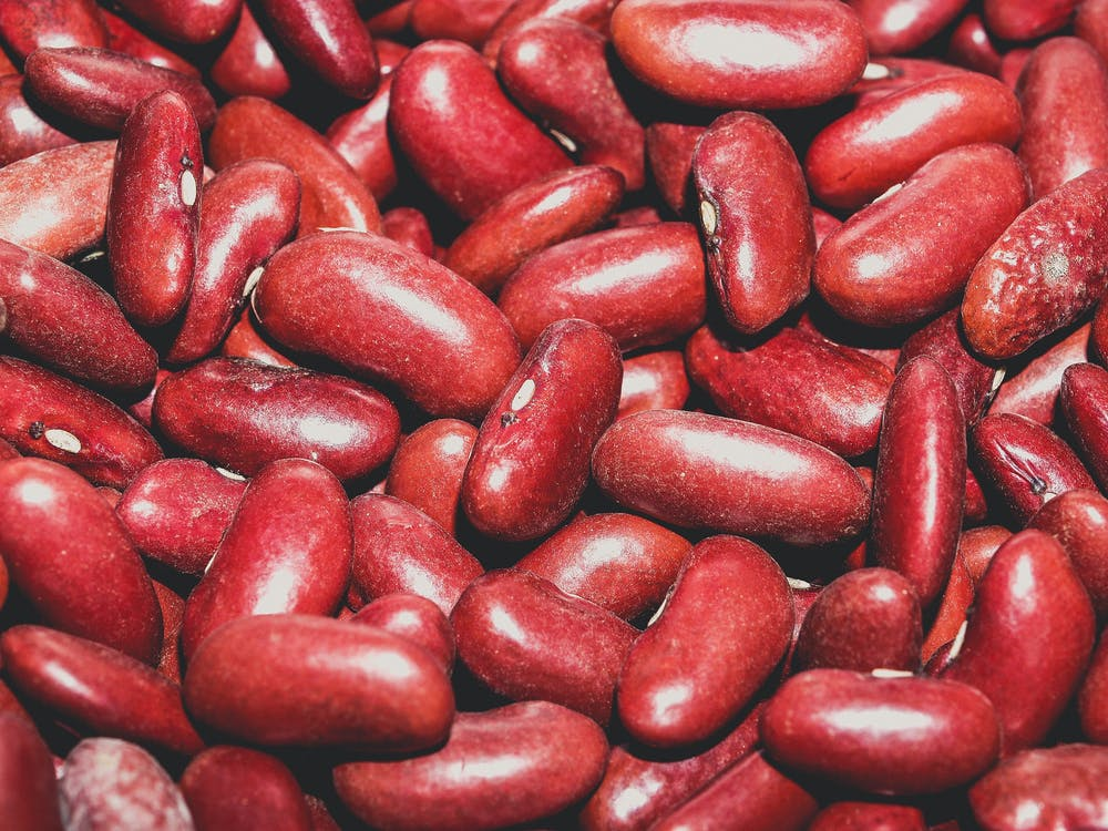 A handful of red beans