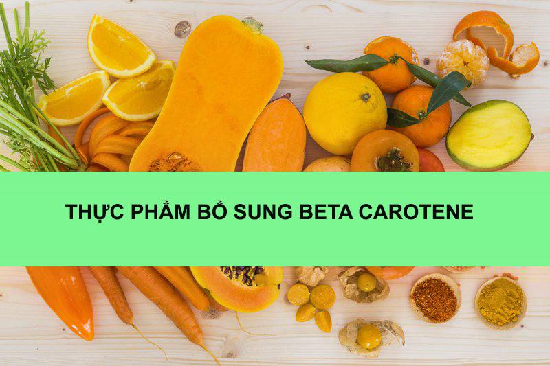 Thực phẩm giúp bổ sung Beta carotene