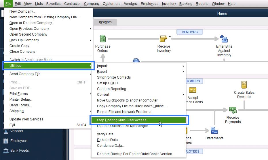 Stop Hosting Multi-User Access - Screenshot Image