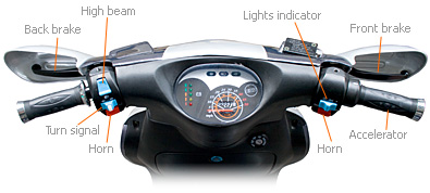 scooter controls