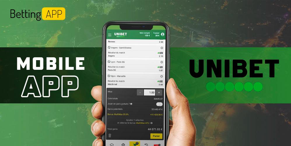 Мобильное приложение Unibet на Андроид