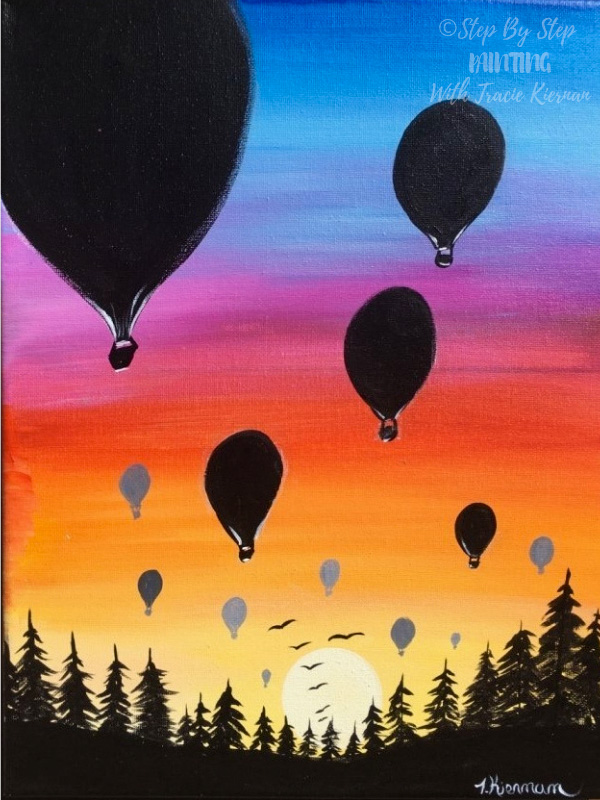 canvas of hot air balloons painting