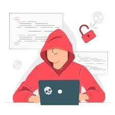 A person trying to hack
