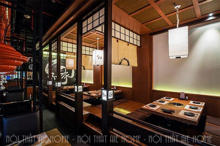 Thiết kế nhà hàng Nhật Bản