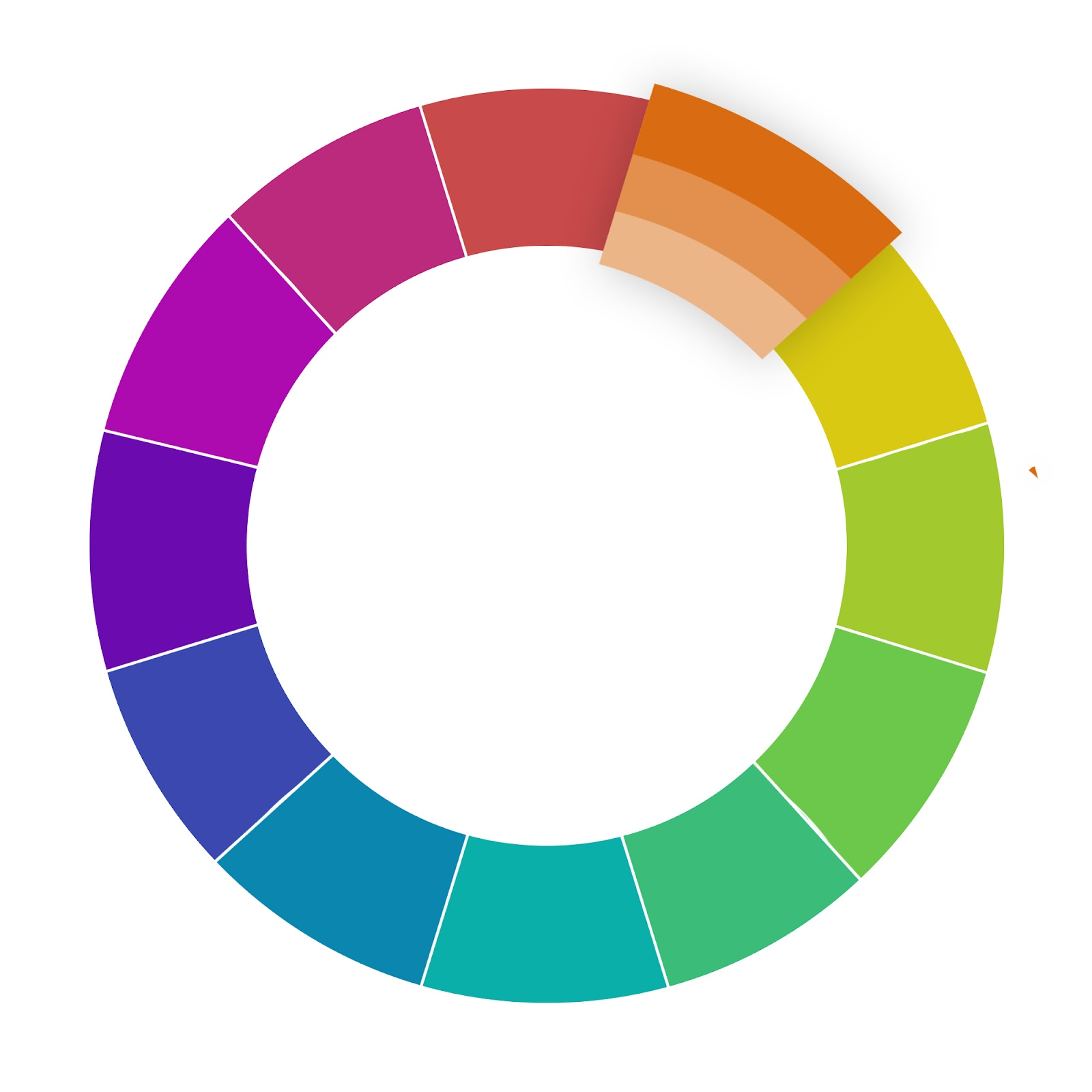 website color schemes monochromatic wheel