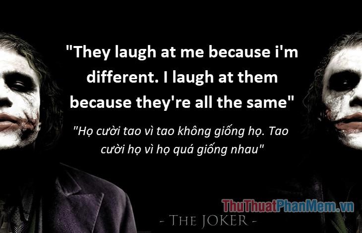 Những câu nói hay của Joker - 2
